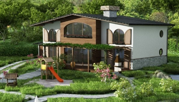 Project of house and landscape, village Sulitsa