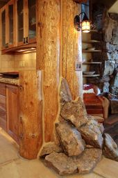 Log houses and interiors